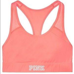 Victoria's Secret PINK pocket sports bra coral